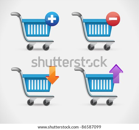 Vector shopping basket icons