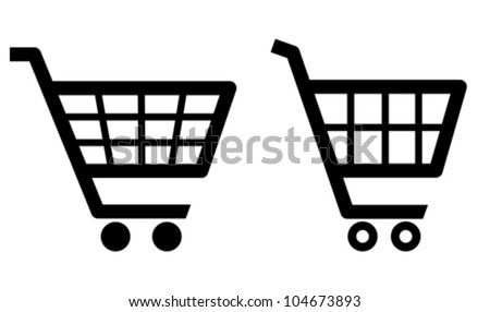 Vector shopping cart icons