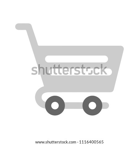 vector shopping cart illustration - commercial market