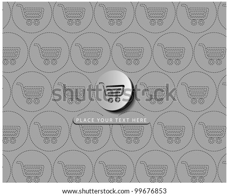 Vector shopping cart item - buy buttons design.