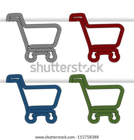 Vector shopping cart item - shopping trolley