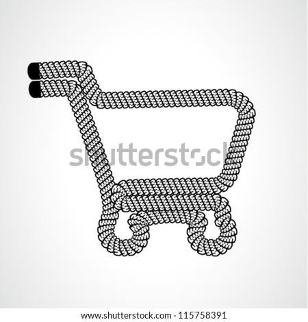 Vector shopping cart item - shopping trolley