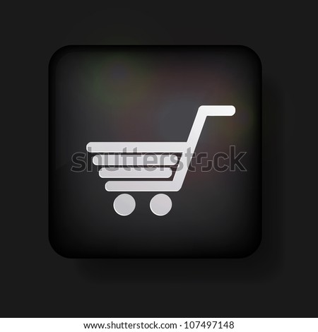 Vector shopping icon on black. Eps 10