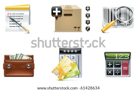 Vector shopping icon set and elements. Part 4