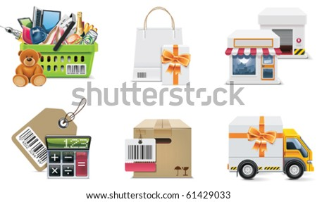 Vector shopping icon set and elements. Part 2 - stock vector