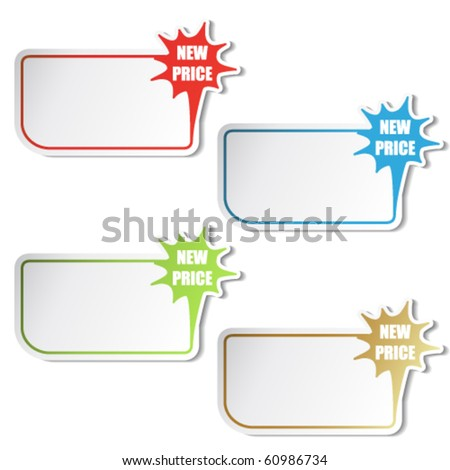 Vector shopping stickers - stock vector