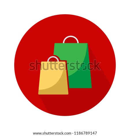 vector shopping two bag icon. shopping package illustration - fashion shop