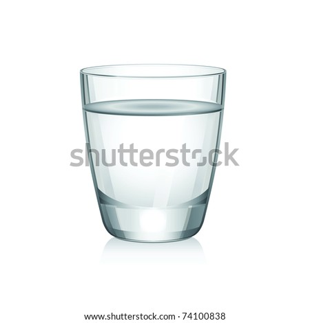 vector short glass with water