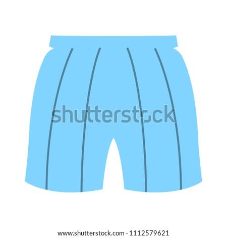 vector short template, design fashion illustration - pants symbol
