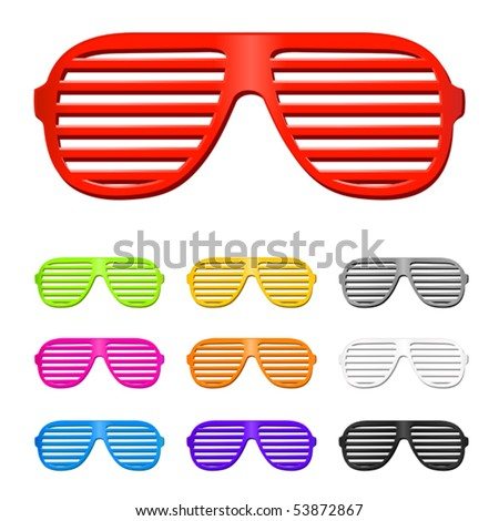 vector shutter shades sun glasses collection
