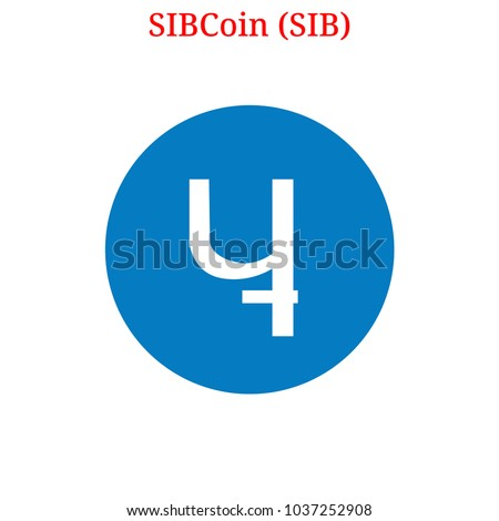 Vector SIBCoin (SIB) digital cryptocurrency logo. SIBCoin (SIB) icon. Vector illustration isolated on white background. Stok fotoğraf ©