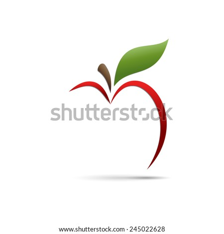 vector sign abstract apple