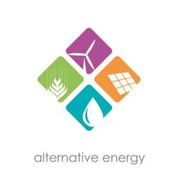 Vector sign alternative energy