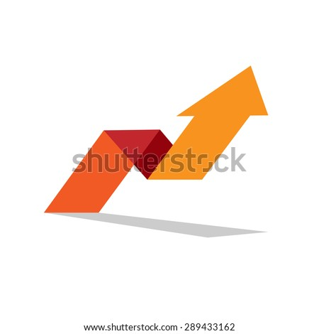 Vector sign arrow up. Concept of innovation