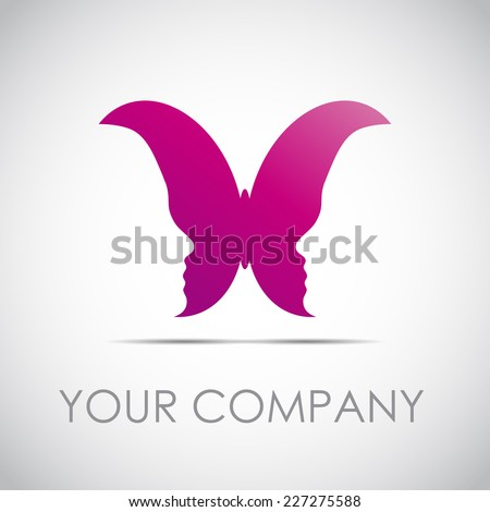vector sign butterfly with of