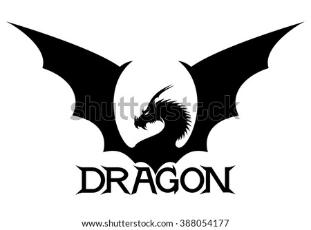 vector sign dragon
