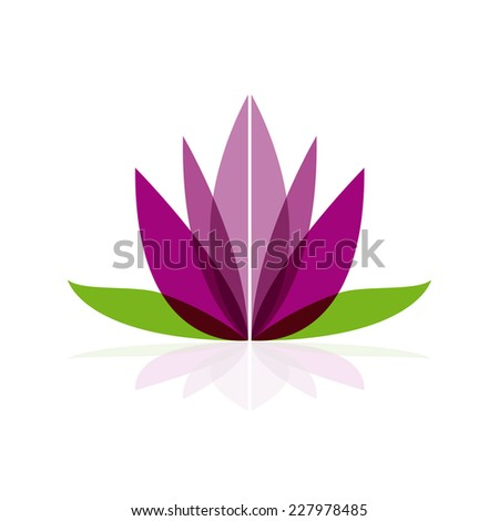 Vector sign flower, concept of spa, yoga and relax