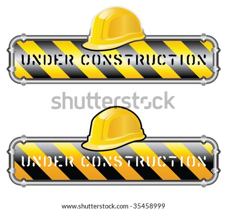 vector sign for site under construction