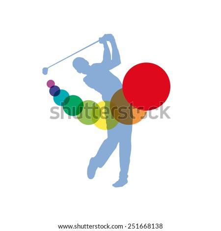 Vector sign Golf Club