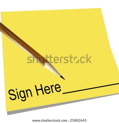 Vector Sign Here