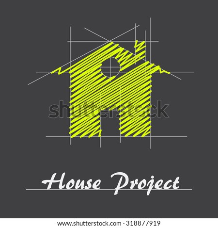 vector sign house project