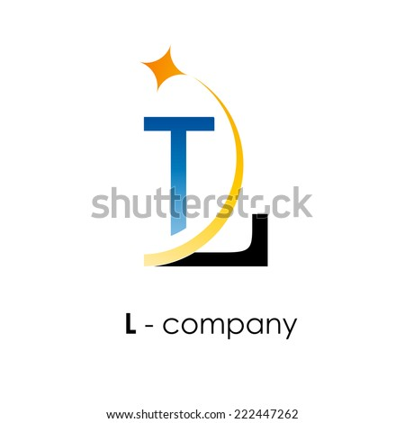 vector sign letter l with star