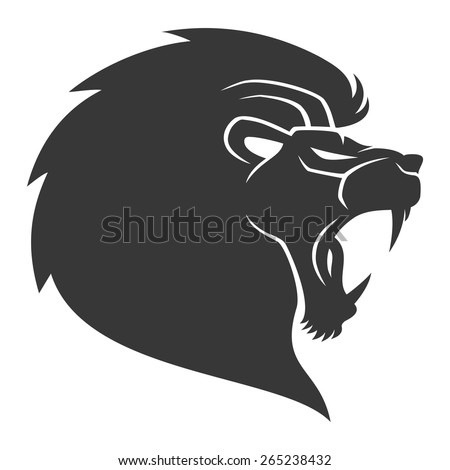 vector sign lion