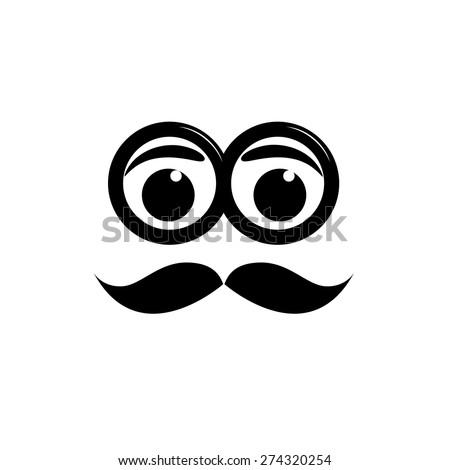 vector sign mustache