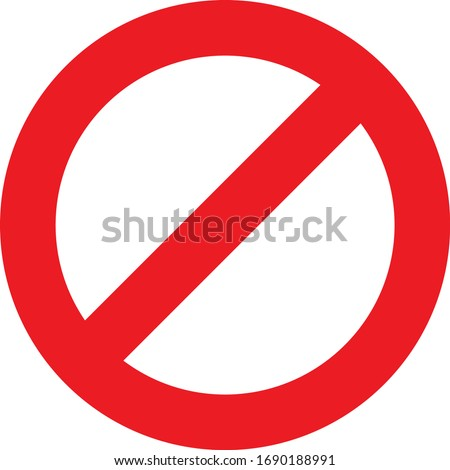 Vector sign of No Entry in basic colors Stockfoto ©