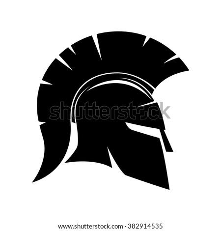 vector sign spartan helmet