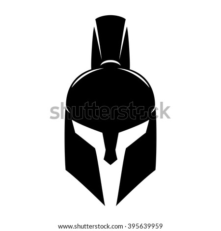 Vector sign. Spartan helmet.
