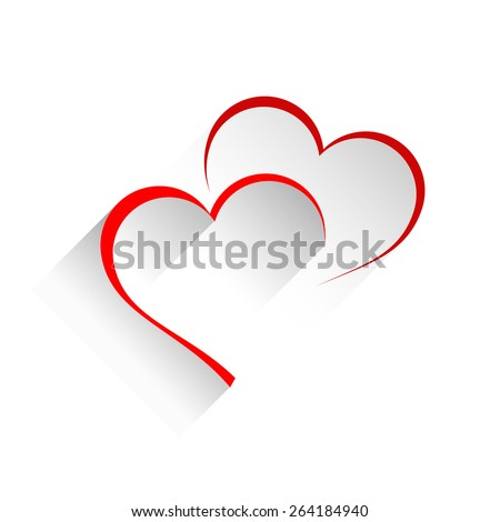 vector sign two hearts