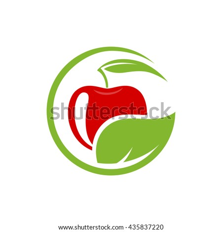 vector sign with red fruit