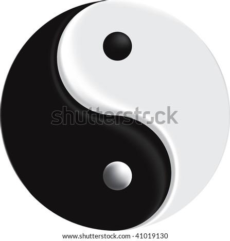 vector sign yin yang mesh