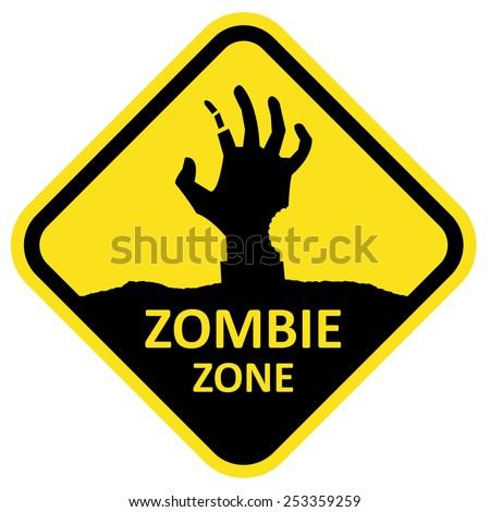 vector sign zombie zone format