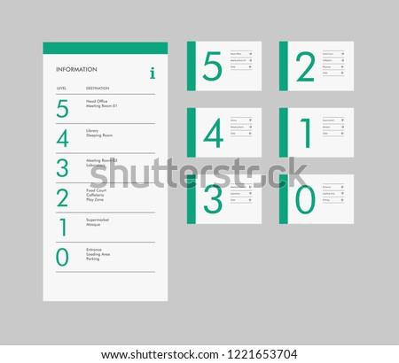 vector signage design for office studio building