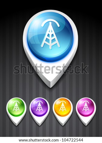 vector signal tower 3d style icon