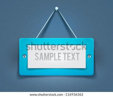 Vector signboard