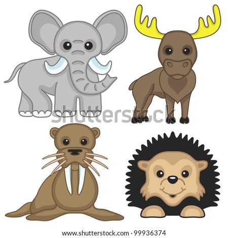 Vector signs. Animals 3