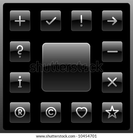 Vector signs icon set