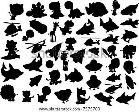 vector silhouette collection