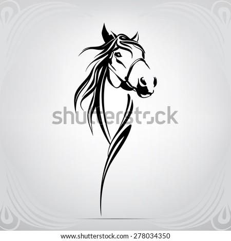 vector silhouette of a horse's