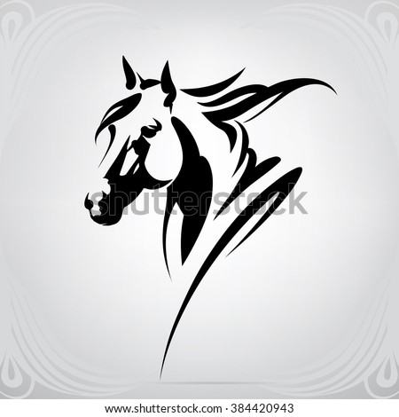 tribal horse vector image | 123freevectors