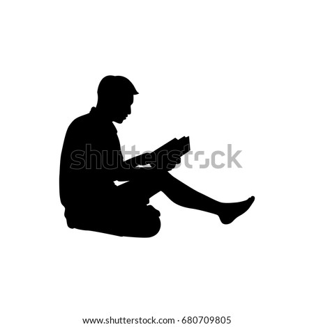 vector silhouette of a man on