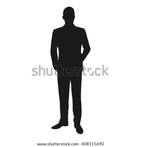 vector silhouette of a man