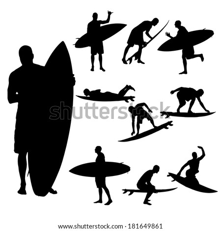 vector silhouette of a man who