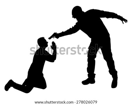 vector silhouette of a man with