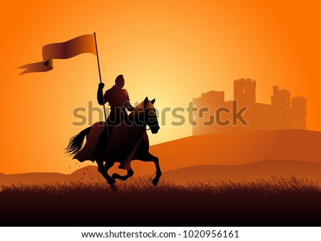 vector silhouette of a medieval