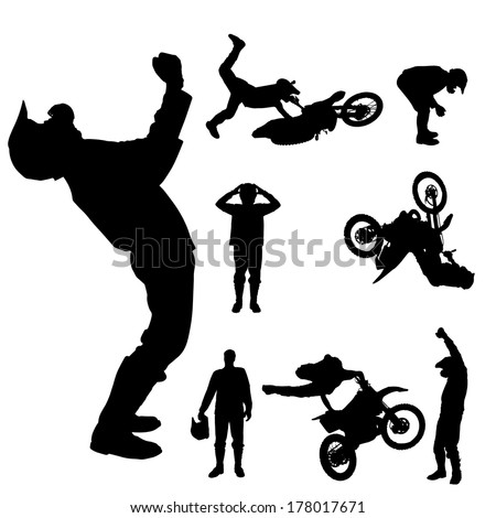 vector silhouette of a
