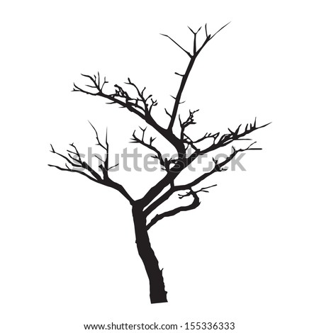 Vector silhouette of a tree